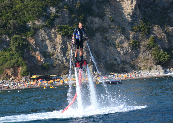Me trying out flyboarding