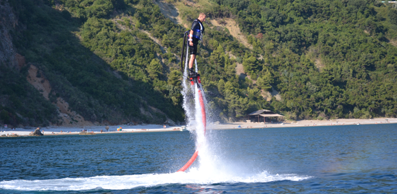 Flyboarding in action